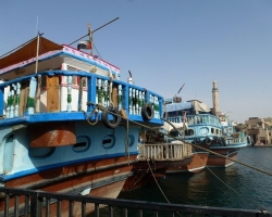 Dhow sterns, Dubai Creek