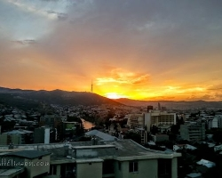 Sunset over Tbilisi